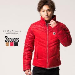 セール SALE 25%OFF 中綿ジャケット メンズ VIOLA ヴィオラ 迷彩柄切り替えフルジップ長袖中綿ブルゾン 即日発送 アウター ダウン ジップ