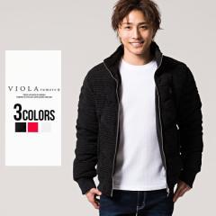 セール価格 SALE 25%OFF 中綿ジャケット メンズ VIOLA ヴィオラ 切り替えフルジップ長袖中綿ジャケット 即日発送 アウター ダウン ジップ