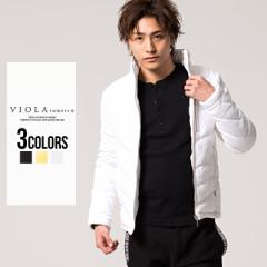 セール SALE 25%OFF 中綿ジャケット メンズ VIOLA ヴィオラ 総柄切り替えフルジップ長袖中綿ジャケット 即日発送 アウター ダウン 切替