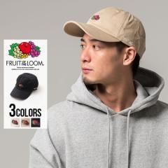 キャップ メンズ FRUIT OF THE LOOM フルーツオブザルーム ロゴ刺繍キャップ 即日発送 帽子 ぼうし CAP アジャスター 綿100% コットン ユ