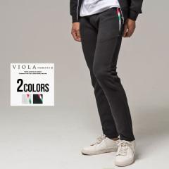 セール価格 SALE 30%OFF スウェットパンツ メンズ VIOLA ヴィオラ バイアス柄ロングパンツ 即日発送 ボトムス イージーパンツ ジャガード