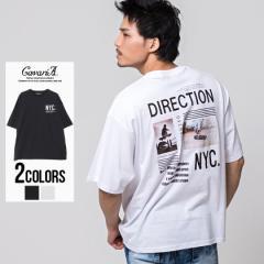 Tシャツ メンズ 半袖 CavariA キャバリア NYCフォトビッグシルエット半袖Tシャツ 即日発送 トップス カットソー インナー フォト バック