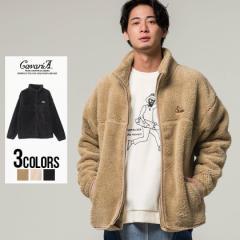セール価格 SALE 20%OFF ボアジャケット メンズ CavariA キャバリア ワンポイント刺繍入りジップアップ長袖スタンドボアジャケット 即日
