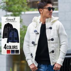 セール SALE 30%OFF 中綿ジャケット メンズ CavariA キャバリア 3G中綿切り替えニットダッフルコート 即日発送 アウター ニットジャケッ