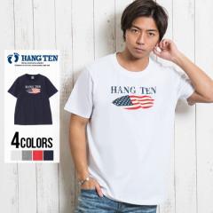 セール価格 SALE 50%OFF Tシャツ メンズ 半袖 HANG TEN ハンテン 星条旗サーフボードクルーネック半袖プリントTシャツ 即日発送 トップス
