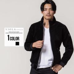 ジャケット メンズ 長袖 VIOLA ヴィオラ ベロアキルトフルジップ長袖ジャケット 即日発送 アウター キルティングジャケット 羽織り ジッ