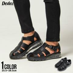 サンダル メンズ 靴 シューズ エアソール クリアソール クッションソール グルカサンダル ブラック 黒 カジュアル 定番 シンプル 2021 即