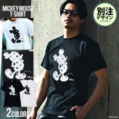 Tシャツ メンズ 半袖 ミッキーマウス DISNEY ディズニー 別注 トップス カットソー キャラクター ブランド プリント 黒 白 レディース ユ