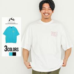 Tシャツ メンズ 半袖 トップス インナー カットソー クルーネック ロゴ バックプリント ビッグシルエット 大きいサイズ ゆったり コット