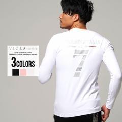 セール価格 SALE 30%OFF Tシャツ メンズ 長袖 トップス インナー カットソー ロンT クルーネック ナンバー ロゴ バックプリント 細身 ミ