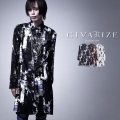 2021 SS新作 CIVARIZE シヴァーライズ ストライプローズロングジャガードシャツ 即日発送 シャツ ジャガード ヴィジュアル系 ビジュアル