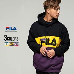 パーカー メンズ ブランド FILA フィラ Pull over hoodie 全3色 大きいサイズ フィラ プルオーバー スウェット スエット ブラック M L