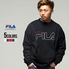 パーカー メンズ スウェット クルーネック FILA フィラ Crew neak shirt 全5色 即日発送 ロゴ トップス ホワイト レッド ブラック グレー
