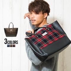 トートバッグ メンズ ブランドHARRIS TWEED ハリスツイード トートバッグ/全3色 大きめ ウール チェック柄 ハリスツイード 鞄