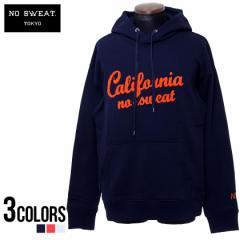 パーカー メンズ 裏毛 サガラ 刺繍 No sweat.ノースウェット カリフォルニア プルオーバー/全3色 トップス