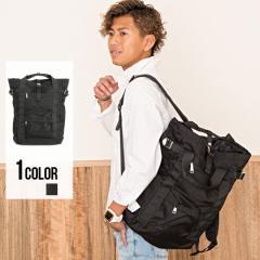 SB select シルバーバレット ロールトップ 3WAY トート リュック 即日発送 メンズ 鞄 バッグ リュックサック シンプル ブラック 黒