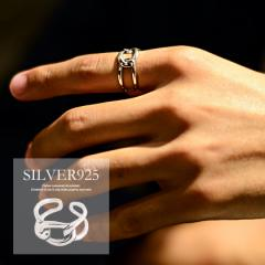 SB select シルバーバレットセレクト ループチェーン シルバー925 フリーサイズ リング 即日発送 メンズ 指輪 太め アクセサリー