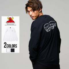 長袖Tシャツ メンズ TOY MACHINE トイマシーン FIST BK PT LONG SLEEVE TEE/全2色 即日発送 ロンT バックロゴ ホワイト ブラック M L XL