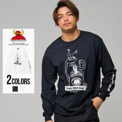 長袖Tシャツ メンズ TOY MACHINE トイマシーン SECT ATTACK PT LONG SLEEVE TEE/全2色 即日発送 ロゴ プリント ブラック ホワイト M L XL