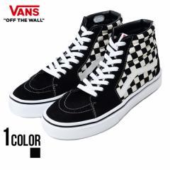 VANS バンズ Sk8-Hi Lite Blk Wht Chk 全1色 即日発送 vans スニーカー メンズ 靴 スケートハイ チェック柄 ブラック ホワイト 黒 白