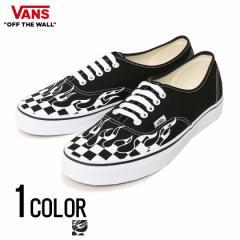 VANS バンズ Ua Authentic Checker Flame Black True White 全1色 即日発送 スニーカー メンズ 靴 バンズ スケーター シューズ チェック