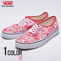 vans バンズ ヴァンズ スニーカー オーセンティック メンズ VANS Ua Authentic Otw Repeat Red True White 全1色 即日発送 靴 総柄