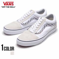 VANS バンズ Ua Old Skool(Sidestripe V) True White True White 全1色 即日発送 スニーカー メンズ オールドスクール 黒 白 チェッカー