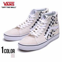 VANS バンズ Ua Sk8-Hi(Checker Flame) Classic White True White 全1色 即日発送 スニーカー メンズ スケートハイ フレーム ハイカット