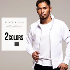 ジャケット メンズ ボンディング ZIP VIOLA ヴィオラ パイピング フルジップアップ/全2色 ホワイト ブラック 白 黒 M L XL