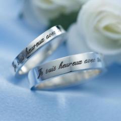 ペアリング 刻印無料 シルバー Heureux FISS-PR2 (FISS-MSD) 指輪 ペア アクセサリー デザインリング プレゼント 彼女 彼氏 カップル ユ