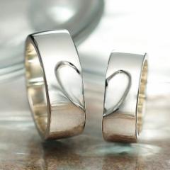 ペアリング 刻印無料 シルバー Much Together FISS-M777 (FISS-MSD) ペア 指輪 デザイン 大きいサイズ 刻印 偶数号 カップル お揃い 彼氏