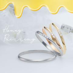Fiss ハニーペアリング Fiss-P100-P100D3-K100PD3-K100YD3 プラチナ ゴールド pt900 K18 1号 2号 刻印無料 偶数号 指輪 シンプル 婚約 記