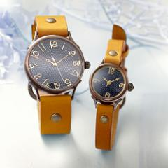 ペアウォッチ セット 時計 刻印無料 セイコー製クォーツムーブメント 栃木レザーVie WB-063L-063S