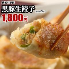 黒豚生餃子40個(20個入×2箱)  販売個数2,800万個突破!うまみたっぷりで何個でもいけちゃいます♪