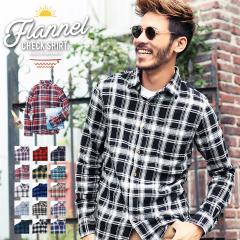 【2枚目半額】ネルシャツ チェックシャツ メンズ トップス 送料無料 trend_d roshell JIGGYS / コットンネルチェックシャツ