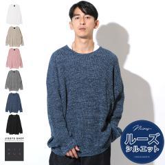 セーター メンズ クルーネック ドルマン トップス trend_d NIIRUS JIGGYS / ラーベン編みビッグドルマンクルーニット