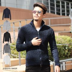 ニット メンズ セーター トップス trend_d JIGGYS / ハイネックZIPUPニット