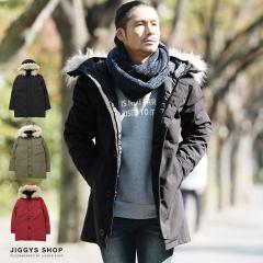 中綿ジャケット メンズ ダウン ブルゾン アウター 送料無料 trend_d JIGGYS / タスランファー付コート