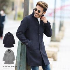 チェスターコート メンズ イタリアンカラー ワッフル アウター 送料無料 trend_d JIGGYS / ワッフル織イタリアンチェスターコート
