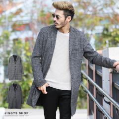 チェスターコート メンズ ジャケット アウター 送料無料 trend_d JIGGYS / グレンチェックチェスターコート
