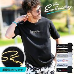 Tシャツ メンズ クルーネック 半袖 刺繍 トップス 送料無料 trend_d roshell JIGGYS / 刺繍Tシャツ