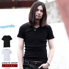 Tシャツ メンズ Tシャツ トップス ヴィジュアル系 V系 SEANA JIGGYS / コットンテレコVネックTシャツ