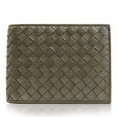 ボッテガヴェネタ BOTTEGA VENETA 財布 二つ折り財布 メンズ レザー スチール ブランド 148324-vb0t3-2905