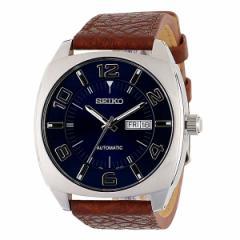 【15日ポイント5倍&SALE】セイコー SEIKO メンズ 腕時計 カレンダー SNKN37 セイコーセレクション ブラウン 革ベルト 時計 Watch 男性