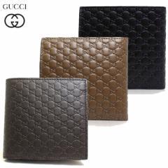 グッチ GUCCI メンズ 財布 二つ折り財布 マイクロGG グッチシマ レザー 本革 ブラック ブラウン ダークブラウン アウトレット ブランド 1