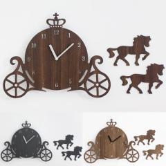 掛け時計 クラウンキャリッジ【壁掛け時計 時計 おしゃれ かわいい デザイン 北欧 壁 壁時計 ウォール