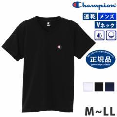 Champion (チャンピオン) メンズ Tシャツ CM1HR202 半袖 Vネック 吸汗速乾 コットンブレンド アンダーウェア ヨガ ウェア ランニング ウ