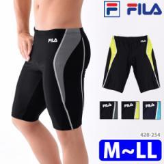 FILA フィラ メンズ フィットネス水着 スイムボトム スパッツ型 体型カバー バイカラー スクール水着 M/L/LL 428254 メール便送料無料