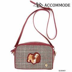 50b476489a5d アコモデ Accommode 通販 12月下旬予約 わんわん物語/レトロチェックポシェット バッグ レディース 鞄