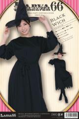 ハロウィン コスプレ 衣装 レディース 安い 魔女 ワンピース 帽子 腰紐 仮装 コスチューム 魔法使い ブラックウィッチ 大人 女性